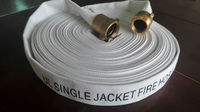"UL 1.5"" inch SINGLE JACKET FIRE HOSE WITH NST BRASS COUPLING"