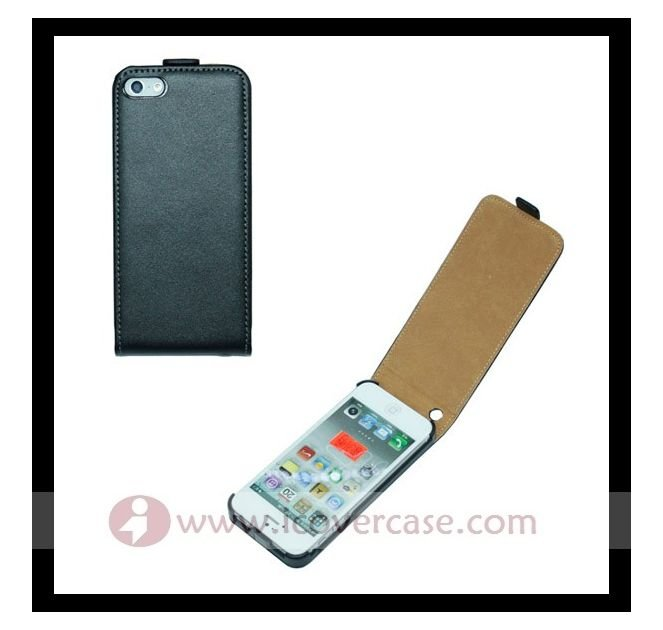 for i phone 5 genuine leather flip case,cowskin case for iphone 5