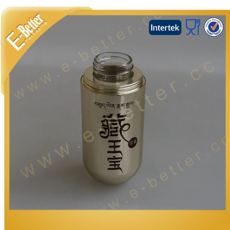 Gold Vitamine Bottle Aluminum Medicine Bottle