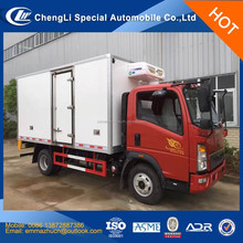 hot sale howo light refrigerator truck,howo right hand drive refrigerator van