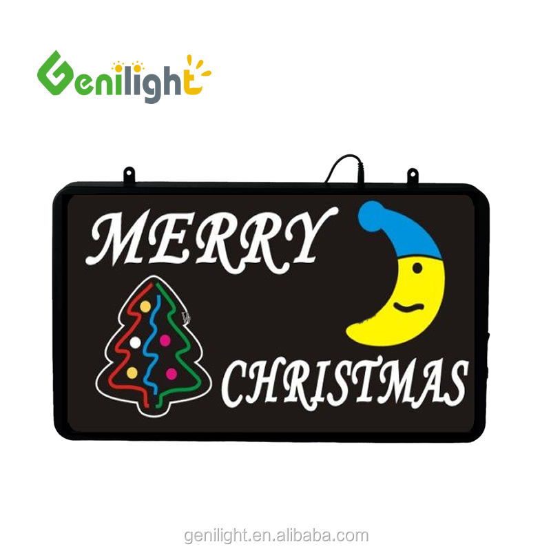 High Quality Flashing Merry Christmas neon Light Sign Perfect for Any Business or Home Window Decoration