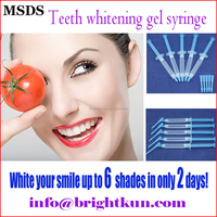 BKG004 home use new fast white dental led light non peroxide teeth whitener gel
