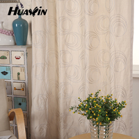 China supplier sale ready made chain embroidery waterproof canvas fabric curtain