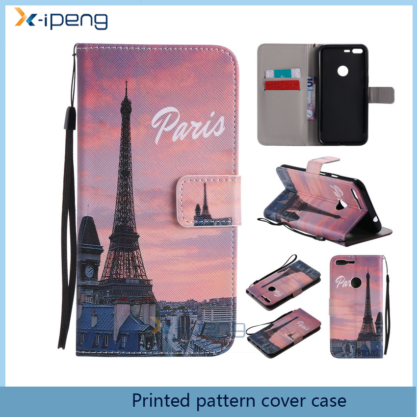 For Mobile phone accessories Leather Slim printed custom pattern flip cover case for asus zenfone selfie zd551kl