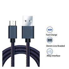 Free Shipping denim Data Charge Type C Cable Fast Charging Mobile Phone USB Charger Cable for Samsung Huawei HTC Android