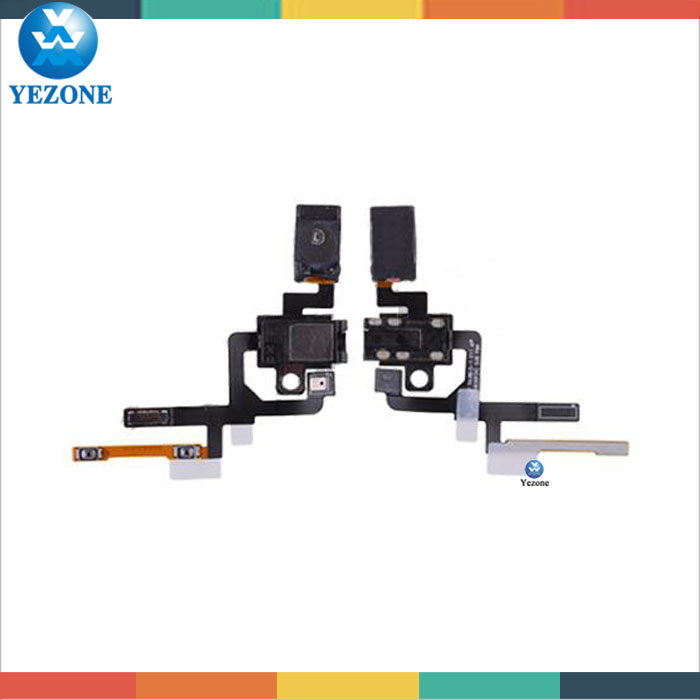 Original Headphone Jack with Flex Cable, Earpiece Speaker, Microphone and Volume Button Connectors For Samsung Galaxy Alpha G850