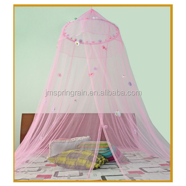 Beatiful pink girl bedroom mosquito net princess canopy