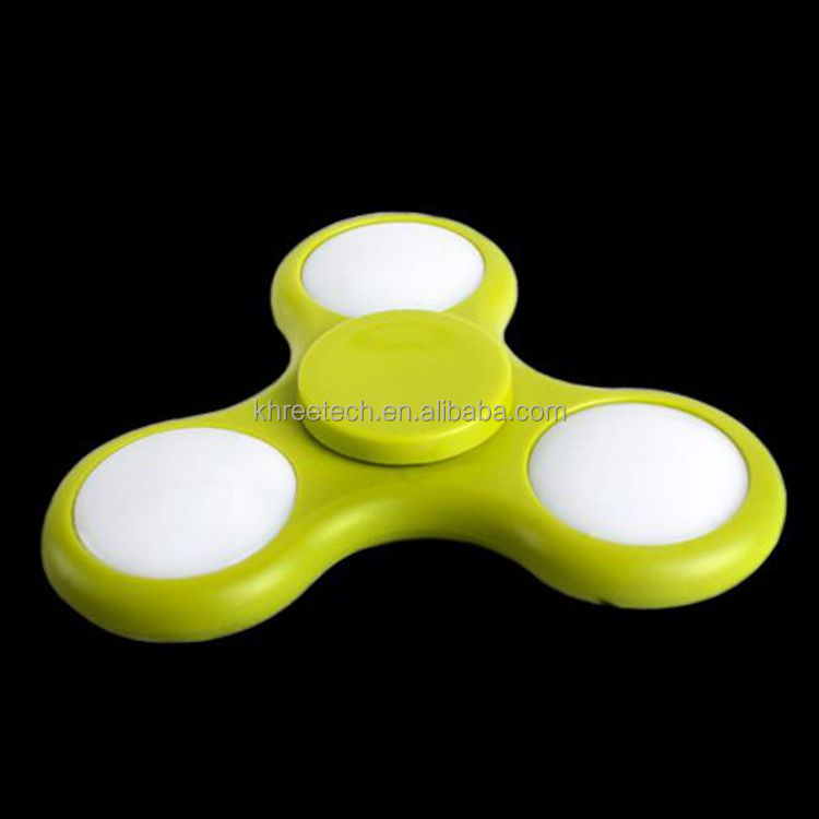 Hand Fidget Spinner LED flashing finger tip top Rotate the gyro luminous entertaining diversions