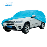 Blue PE Cotton Material Full Folding Garage Car Cover with Size S M L XL XXL or Customized