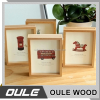 Beautiful Eco-Friendly Natural Wood Carved Photo Frame