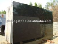 Polished absolute black granite