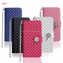 High Quality Diamond Flip Leather Phone Case for LG G4