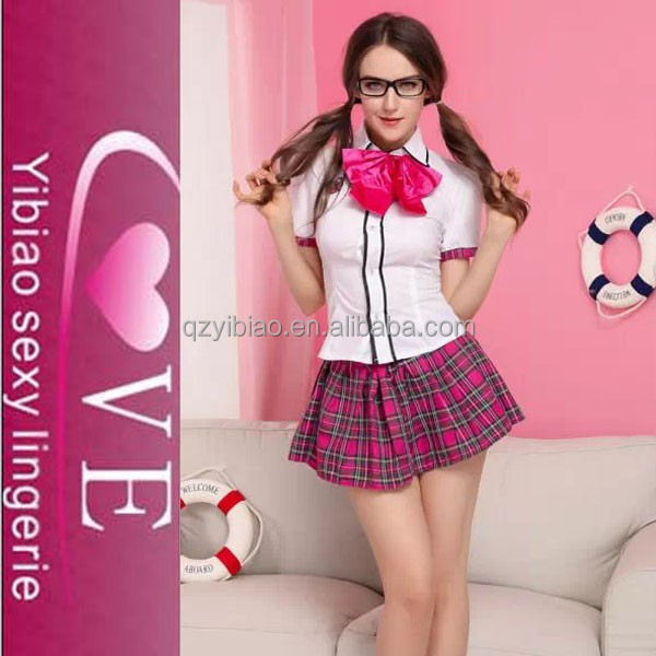2015 Japanese Hot Plaid Skirt With White Blouse School Girl 2015 Japanese Hot Sexy Costume Fashion School Girl Sex Uniform