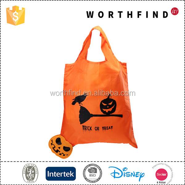 Custom reusable eco friendly polyester foldable tote shopping bag