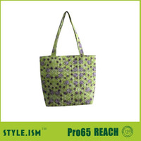 High quality large quilted cotton fabric tote bag