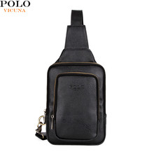 VICUNA POLO 2017 New Product Heart Bag V9905 Wholesale Black Fashion PU Leather School Crossbody Chest Bag