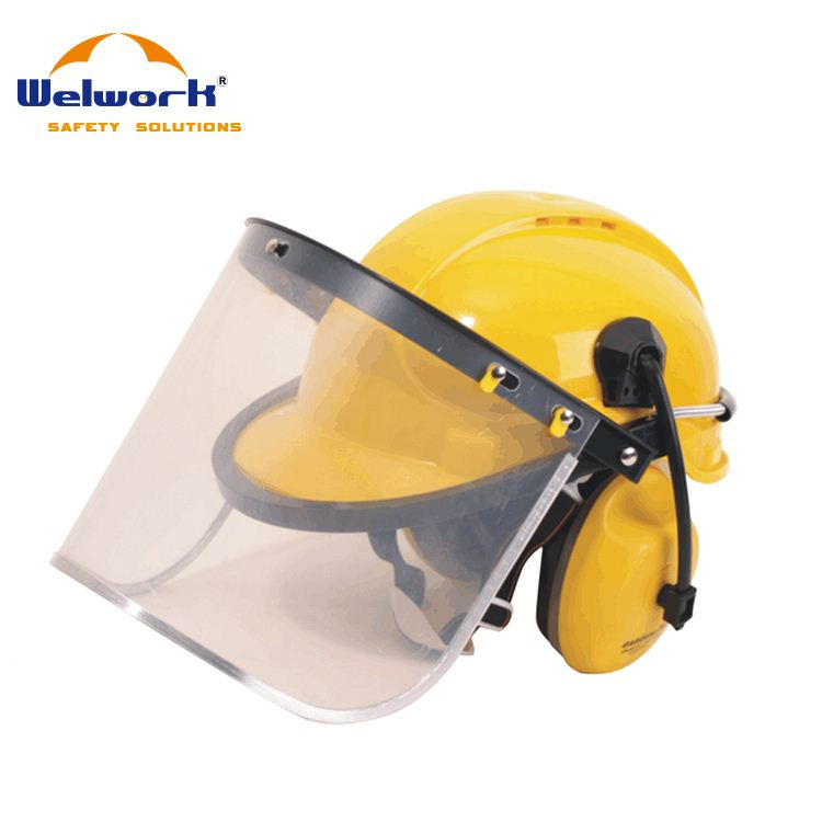 High Performance Custom Design plastic face shield with safety helmet