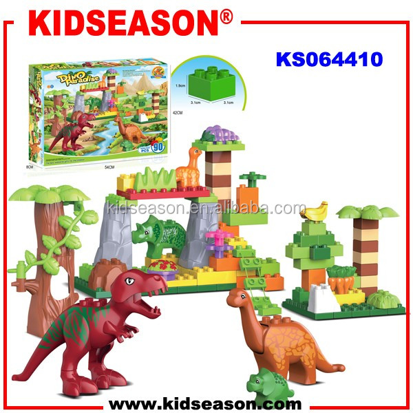 KIDSEASON 90pcs dinosaur world plastic toys building block