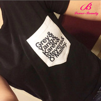 Letter Pattern Black Scoop Neck Cheap Tank Tops For Women
