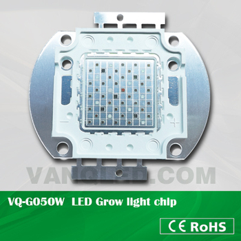 50W high power multiband COB LED grow light chip,copper holder chip
