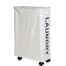 Recycled Rolling Corner Foldable Laundry Hamper Basket with Handles