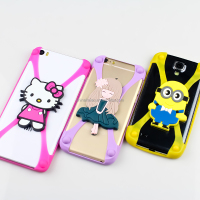Universal general silicone 3D cartoon pattern mobile phone case cover suitable for all brand cellphone