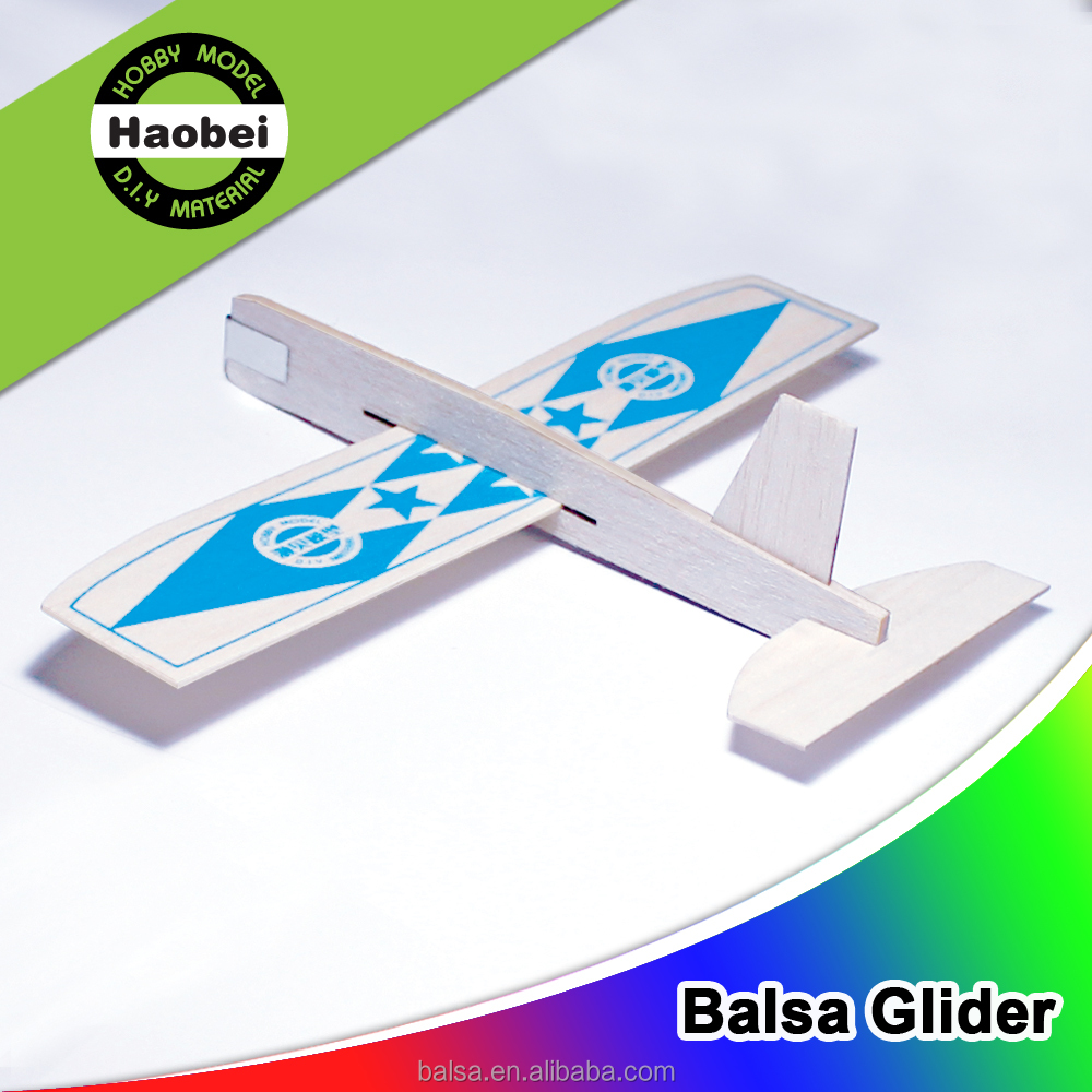 China new design light 12inch wing span model craft balsa wood gliders for kids