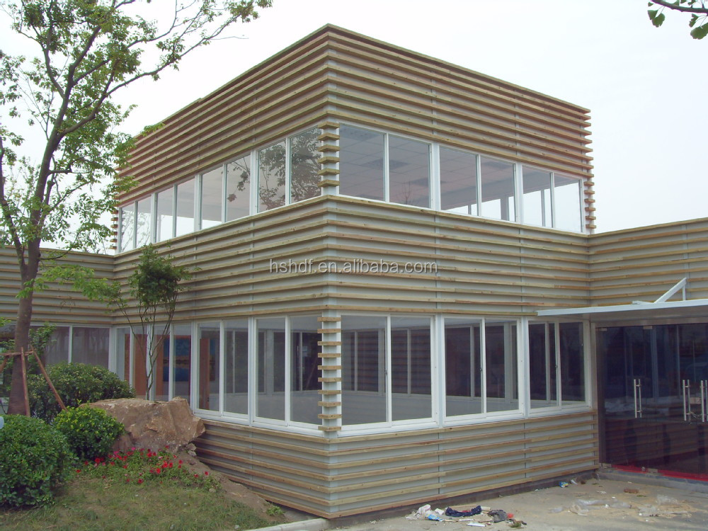 Cheap manufactured light steel structure wooden villa design