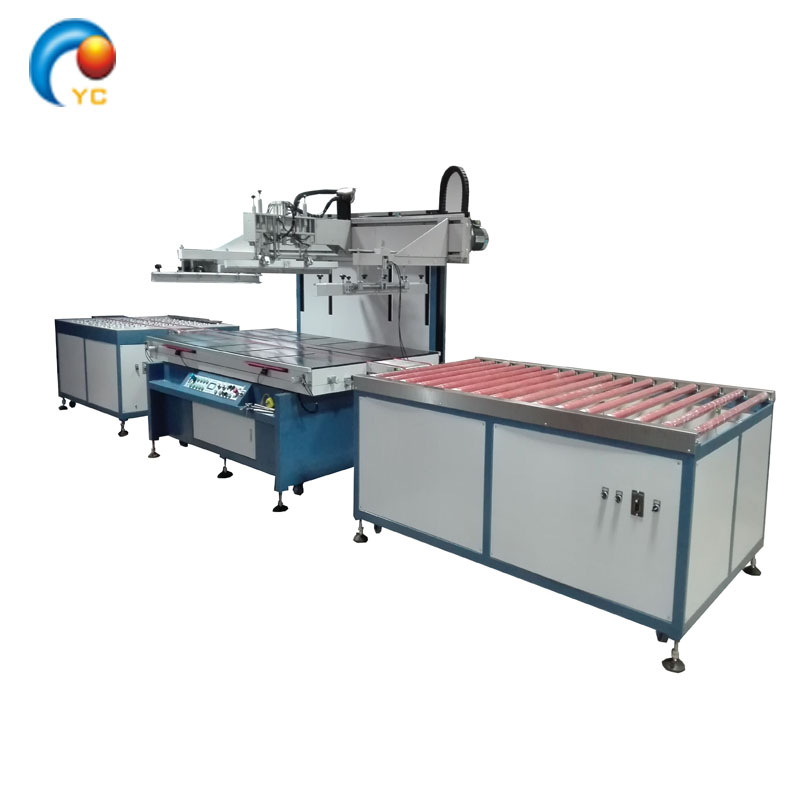 Fully automatic 1300*2500 glass silk screen printing machine with conveyor blet