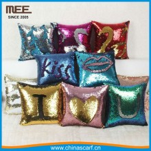 2017 hot sell magic sofa pillow factory colorful decoration sequin mermaid pillow