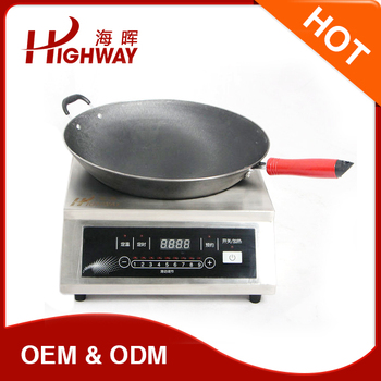 concave counter top induction cooker for restaurant/hotel