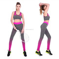 Ladies active wear suit seamless sport fitness yoga wear suit