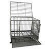 Durable Folding metal wire deluxe dog cage with wheels