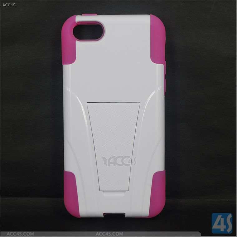 PC+Silicone Stand Hard Case Cover for iPhone 5C P-IPH5CHCSO004