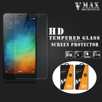 Top Band VMAX!! Anti-broken Ultra clear 0.33mm 9H 2.5D cell phone Tempered Glass screen protector for Xiaomi Redmi note 3