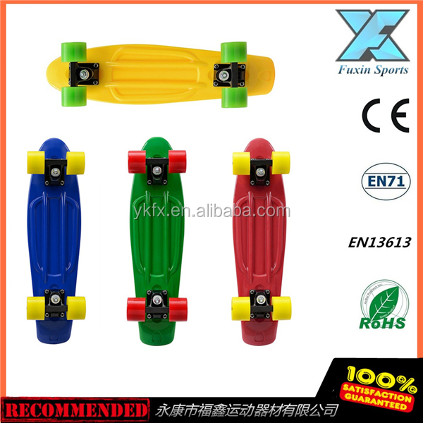 Banana board 22 Inch EN71 mini cruiser plastic retro board fish complete skateboard