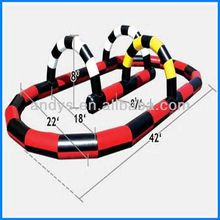 2016 hot sale fun inflatable race track