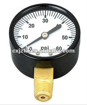 "2.0"" standard pressure gauge in black steel case"