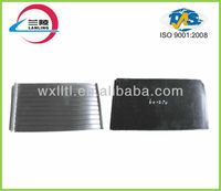 Grooved insulation nature rubber pad for railway