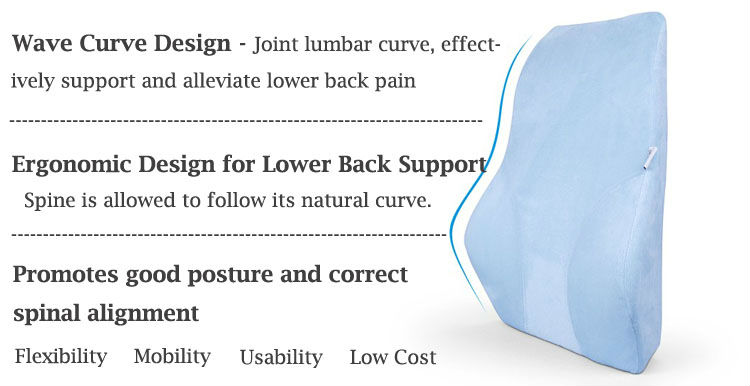 Breathable Mesh Car Seat Back Support Lumbar Support Pillow Cushion
