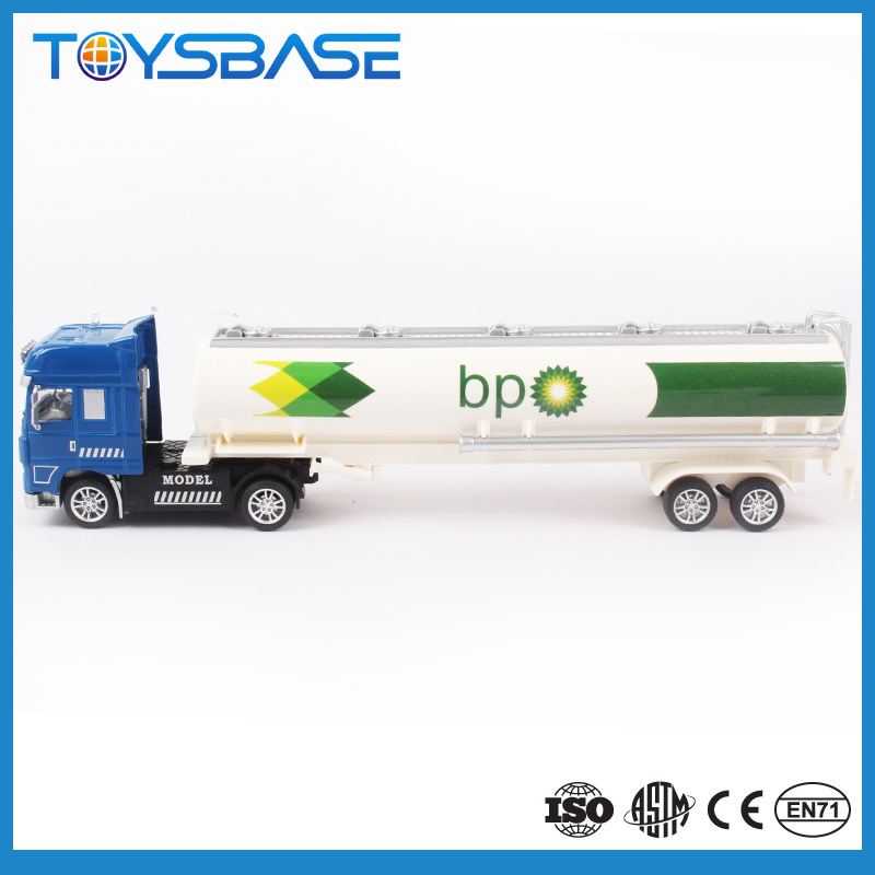 Customized Logo OEM Designed Alloy Die Cast Models Toy Tanker Truck Diecast Model Car 1 18