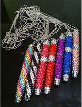 wholesale fashion 10.5cm twist diamante ball pen cute promotion pen