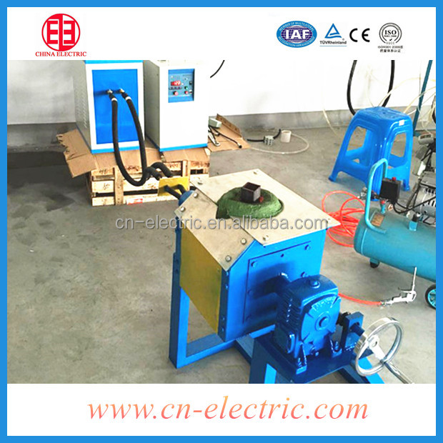 Induction heating melting electric furnace