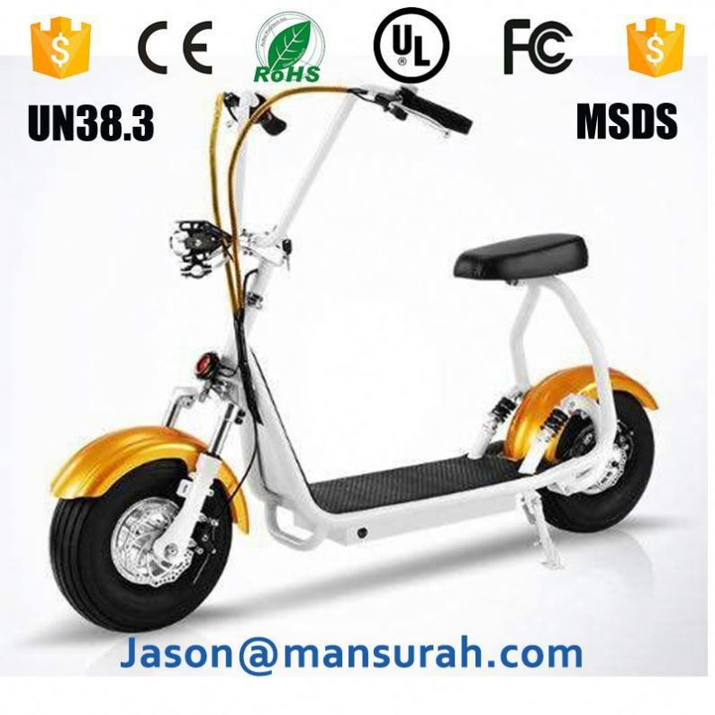 Hydraulic Brake Citycoco Electric Scooter 800W Cheap Motorized Bicycle With Head Light