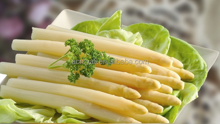 2016 Crop / Canned White Asparagus Spears in tall glass jars 370ml