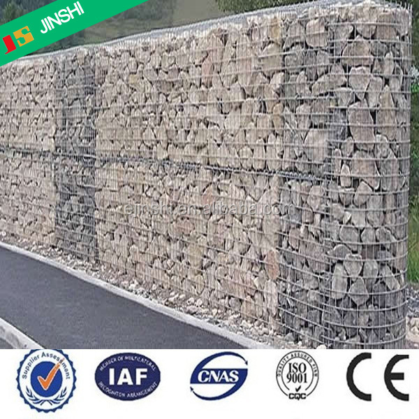 1 x 1 x 0.5 m Galvanized wire welded gabion basket for gabion walls
