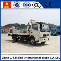 Light Duty Dongfeng 5 Ton slide flatbed road wrecker towing truck for sale from China manufacturer