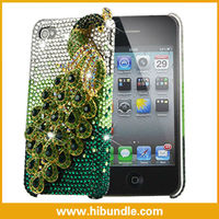 Popular Handmade jewel peacock covers for iphone 4/4s