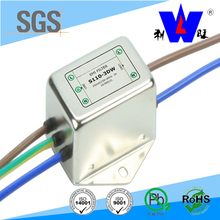 6A 250V AC socket single phase emi filter for power supplies