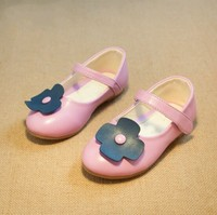 D71092H 2015 autumn new Korean children flowers girls shoes